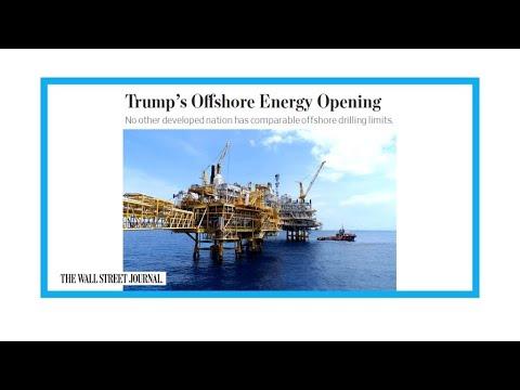 """Trump pour """"une expansion massive des forages pétroliers offshore"""""""