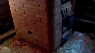 видео Банная печь с закрытой каменкой.