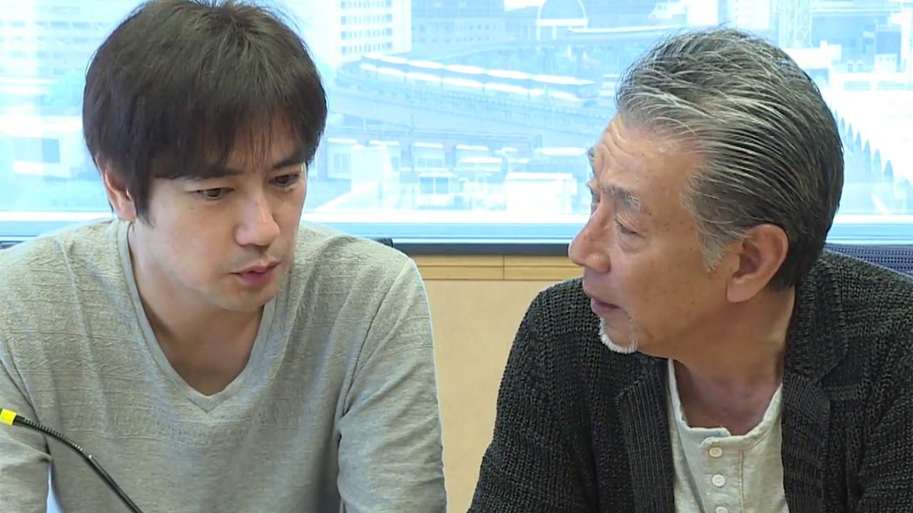 高田純次さんと真剣話をする羽鳥慎一。