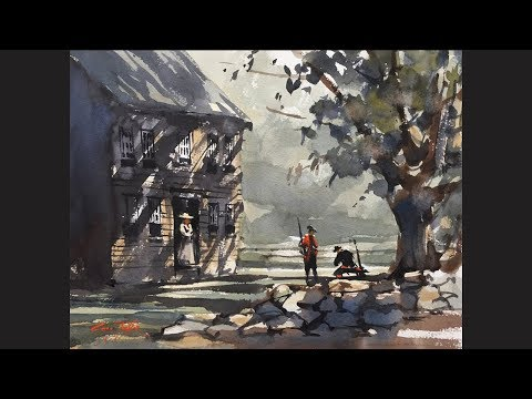Advancing in Watercolor: Hartwell Tavern and The Big Shape