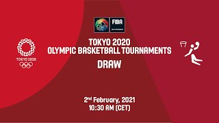 Live Draw Tokyo 2020 Men S And Women S Olympic Basketball Tournaments Youtube