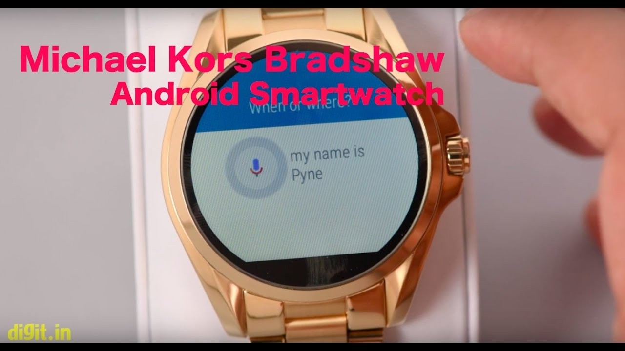 ca1e4608e71297 Michael Kors Bradshaw MKT5001 - Android Wear Smartwatch | Digit.in ...
