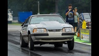 1991 LX 5.0 SilverCar 4.56 Gear T-N-T Budget Fox Body Mustang Drag Car