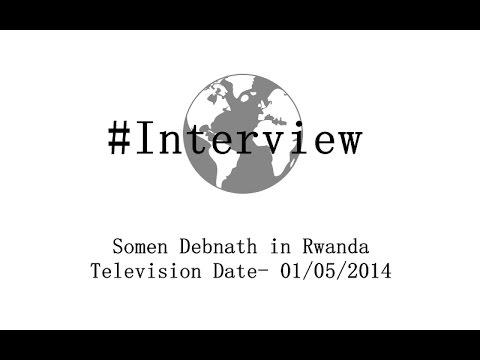 Somen Debnath in Rwanda Television Date- 01/05/2014
