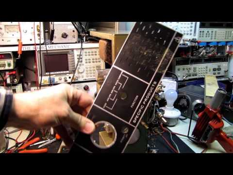 Model WWVC Standard Frequency Comparator #3 Front Panel Repair