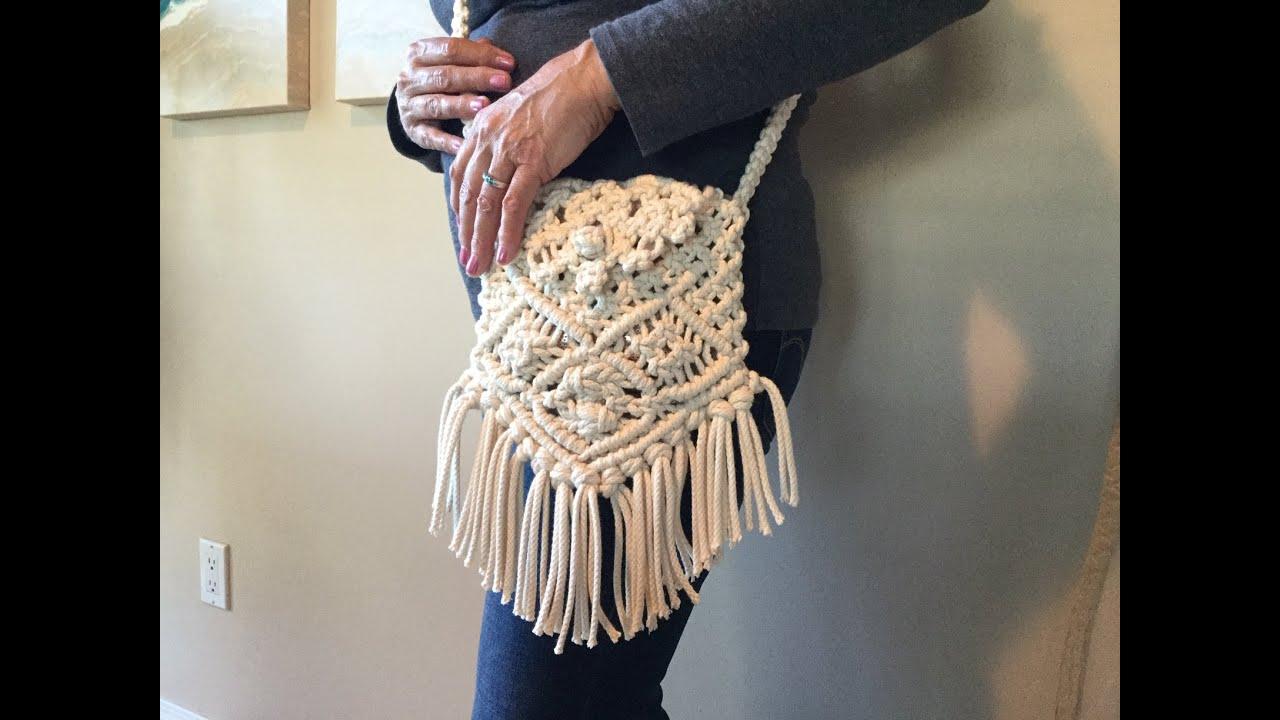 Macrame Bag With Shoulder Strap