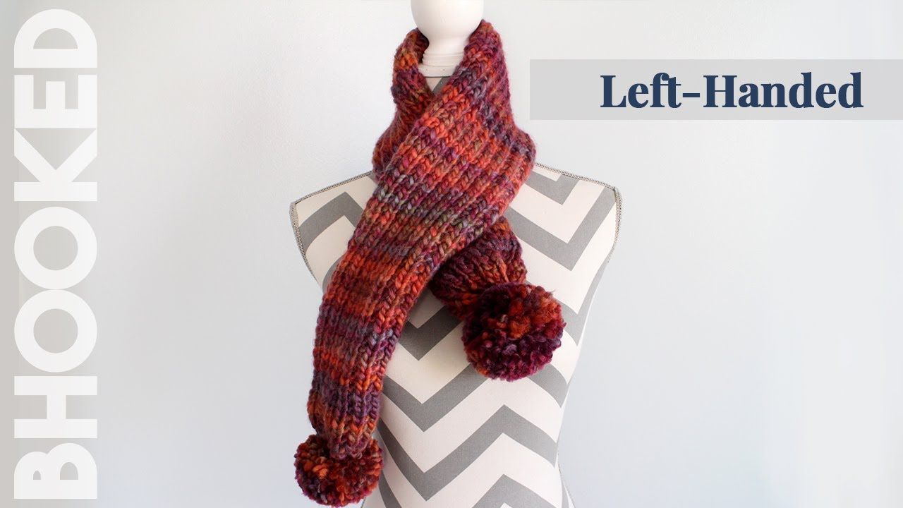 Knitting Left Handed Ssk : How to knit a scarf for beginners easy left