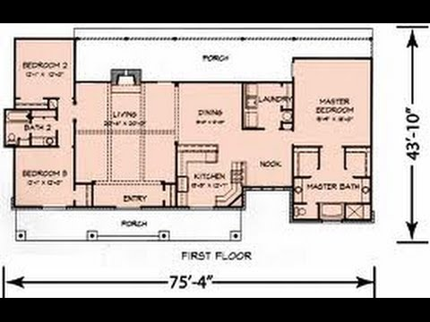 Planos de casas con medidas youtube for Croquis de casas