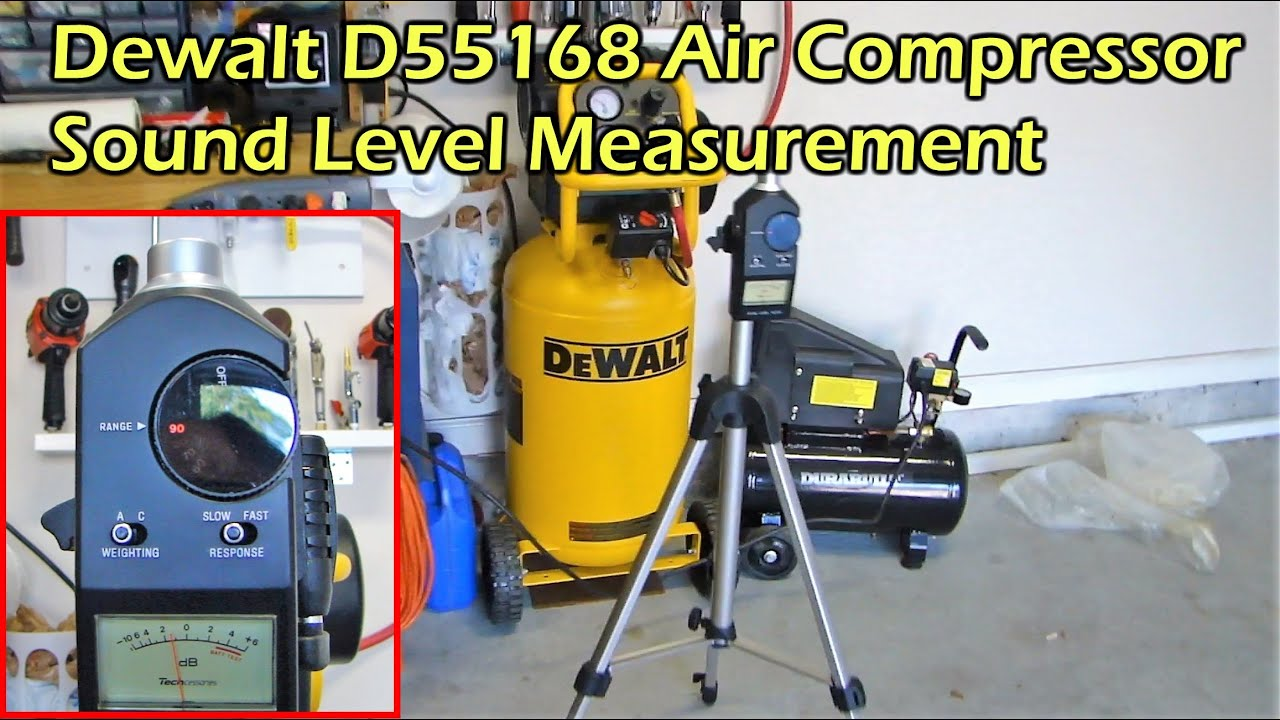 Dewalt D55168 Air Compressor Sound Level Part 3 Youtube