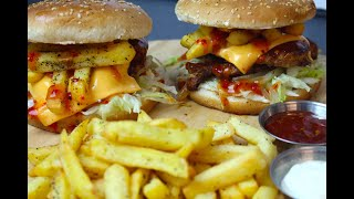 Chicken & Chips Burger | Chicken Burger | Chicken Snack Recipes  By COOK WITH FAIZA