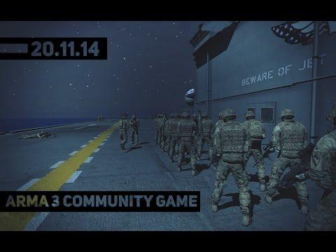 Arma 3 Community Game 20.11.14 - Омаха Бич на вертолетах.