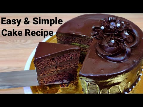 Chocolate Truffle Cake,Easy Chocolate Cake Recipe, Eggless and without oven,eggless chocolate sponge