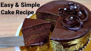 Chocolate Truffle Cake,Easy Chocolate Cake Recipe, Eggless and without oven,eggless chocolate sponge