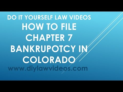 How To File Chapter 7 Bankruptcy In Colorado