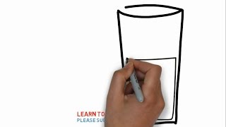 Easy Step For Kids How To Draw a Glass of Orange Juice