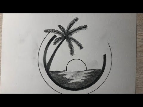 How To Draw Easy Pencil Colour Scenery Step By Step Beautiful Nature Hscenery Art For Beginners Youtube
