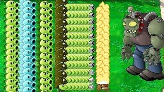 All Pea PvZ vs Giga-Gargantuar Plants vs Zombies Hack