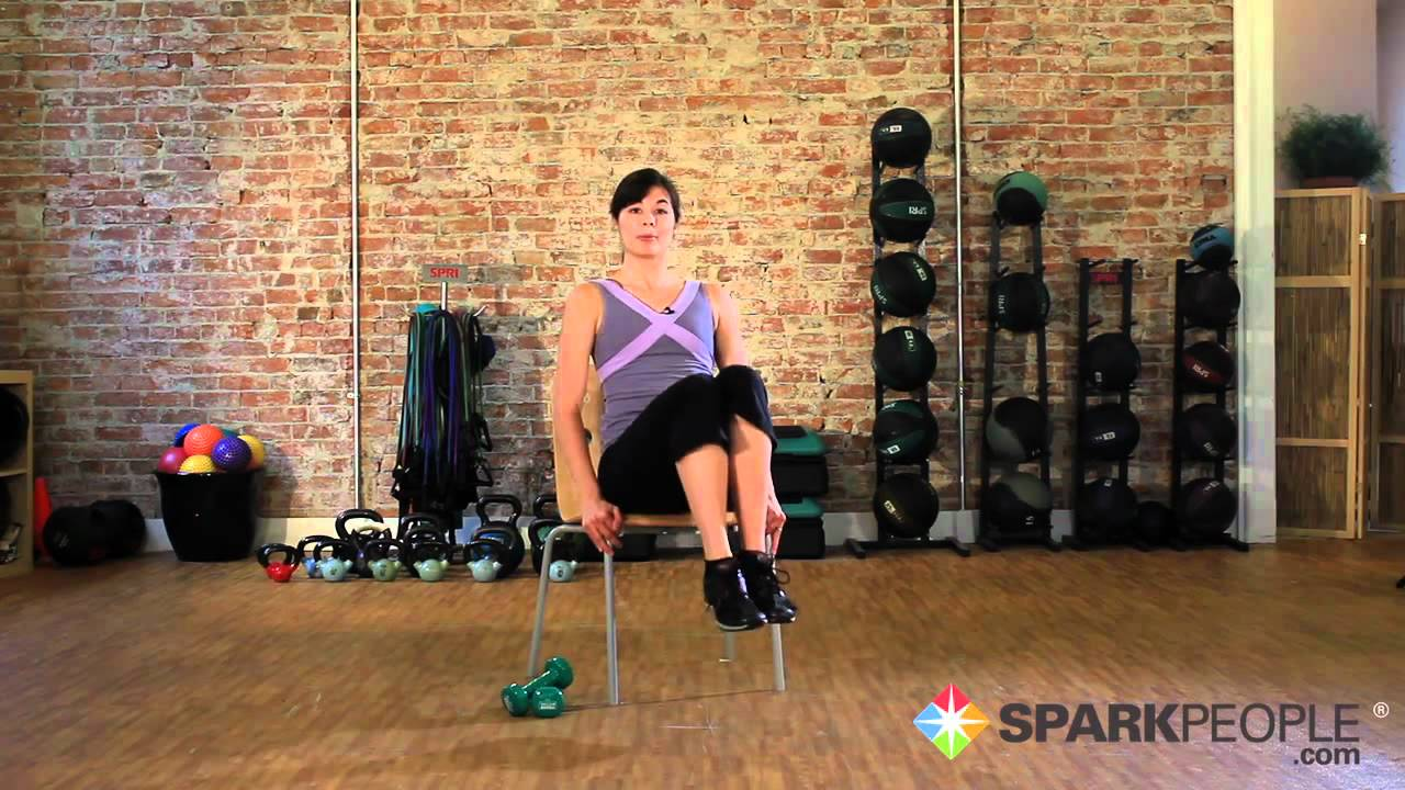 chair exercises for abs office orange seated workout your core youtube