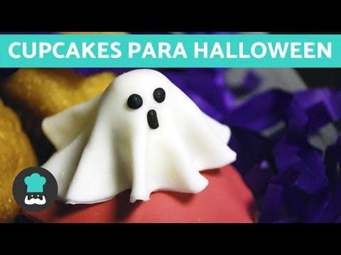 Cupcakes decorados para Halloween - ¡Con forma de FANTASMA! 👻🎃