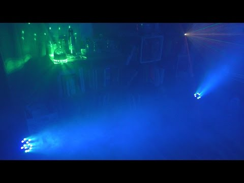 (4K) How to turn your room into a dance party floor: Fog, LEDs, and lasers