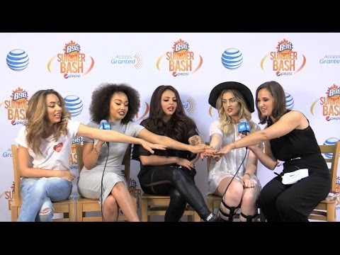 Little MIx Backstage At The B96 Pepsi Summer Bash In The AT&T Access Granted Lounge