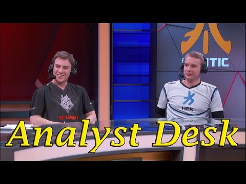 Perkz and Jankos on the analyst desk