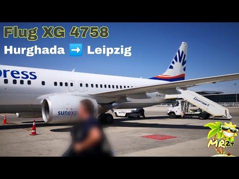 Flug Start Hurghada🇪🇬 nach Leipzig 🇩🇪 || FLUG XG4758 || BOEING 737-800 Sunexpress || 01.04.18