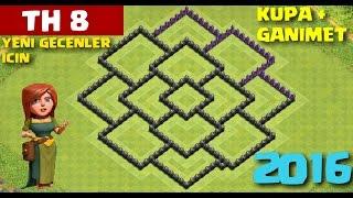 Clash of Clans - 8.Seviye Köy Binasına Yeni Geçenlerin Kullanacağı Düzen (CoC TH8) [GANIMET+KUPA]
