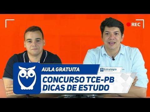 Concurso TCE-PB - Aula Gratuita com Dicas de Estudo