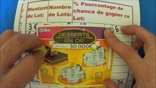 Grattage de jeux FDJ Dessert en Or, seconde édition...