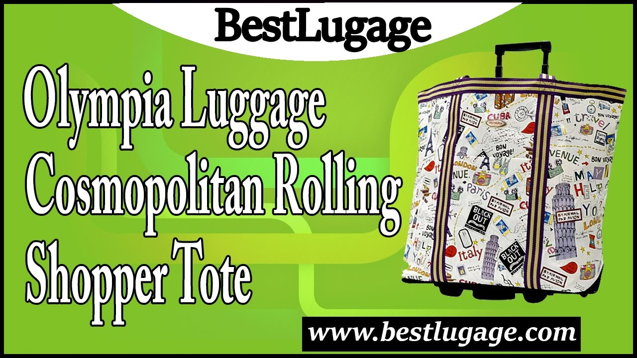 eeb68c13a Olympia Luggage Cosmopolitan Rolling Shopper Tote Review - YouTube