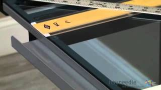 Studio Designs Glass Top Vision Rolling Drafting Table - Product Review Video