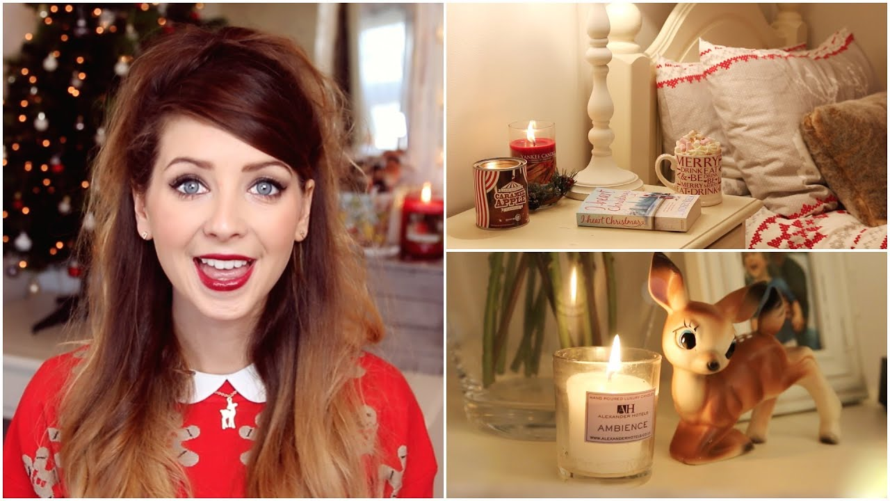 Christmas bedroom inspiration zoella youtube for Room decor zoella