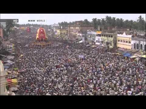 Ratha Yatra -- The Chariot Festival at Jagannath Puri, Orissa, India.