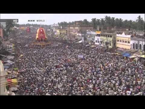 Ratha Yatra -- The Chariot Festival at Jagannath Puri, Orissa, India.