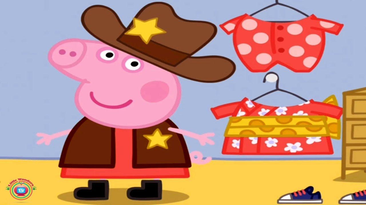227b42b57ecb9 Peppa Pig - Dressing Up Gameplay - Lets Dress Up Peppa Pig, George Pig, Mummy  Pig & Daddy Pig