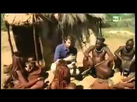 İsolated Himba tribes woman and white skin woman at Namibia Best tourism destination