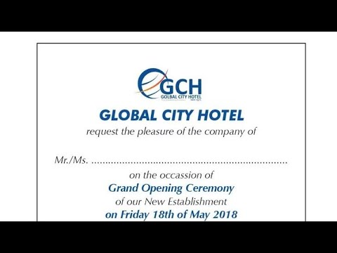 Global City Hotel Opening Ceremony