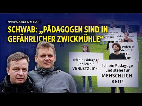 """""""Pädagogen zeigen Gesicht"""" - Stiller Protest vor dem Landtag NRW für mehr Menschenwürde und Bildung"""