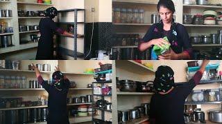 மாதம் ஒரு முறை கிச்சன் கிளீனிங் இப்படி செய்யலாம் | Kitchen Deep Cleaning and Organization