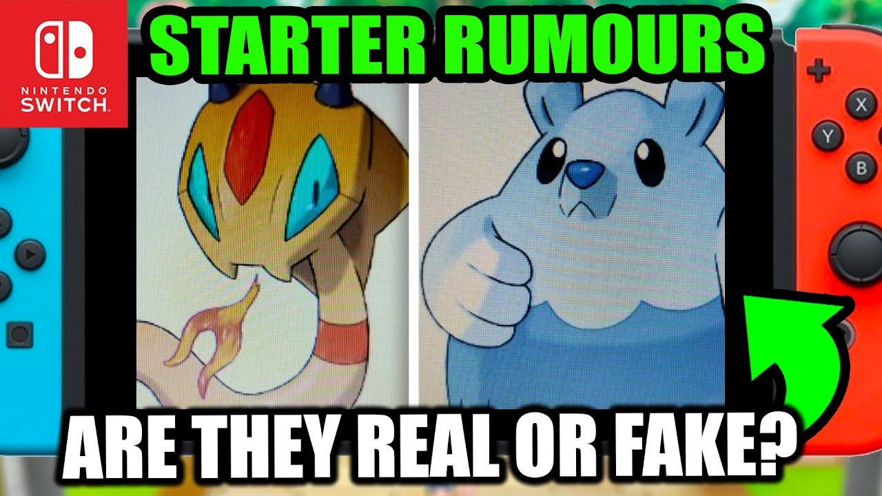 Pokemon Switch 2019 Rumour These Starters Look Great Pokemon