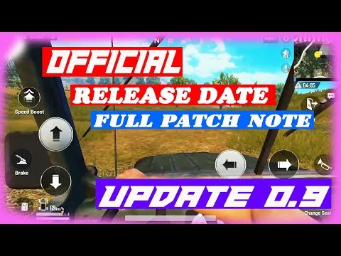 UPDATE 0.9 OFFICIAL PATCH NOTE, OFFICIAL RELEASE DATE PUBG MOBILE