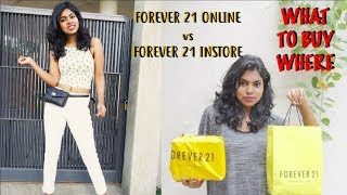 What To Buy Where | Forever 21 Online vs Store - F21 Shopping Guide & Try On Haul | AdityIyer