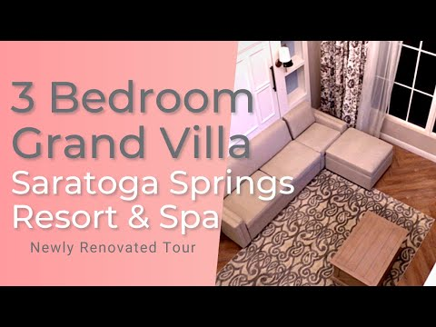 3 Bedroom Villa at Saratoga Springs Resort & Spa | Room Tour Newly Renovated
