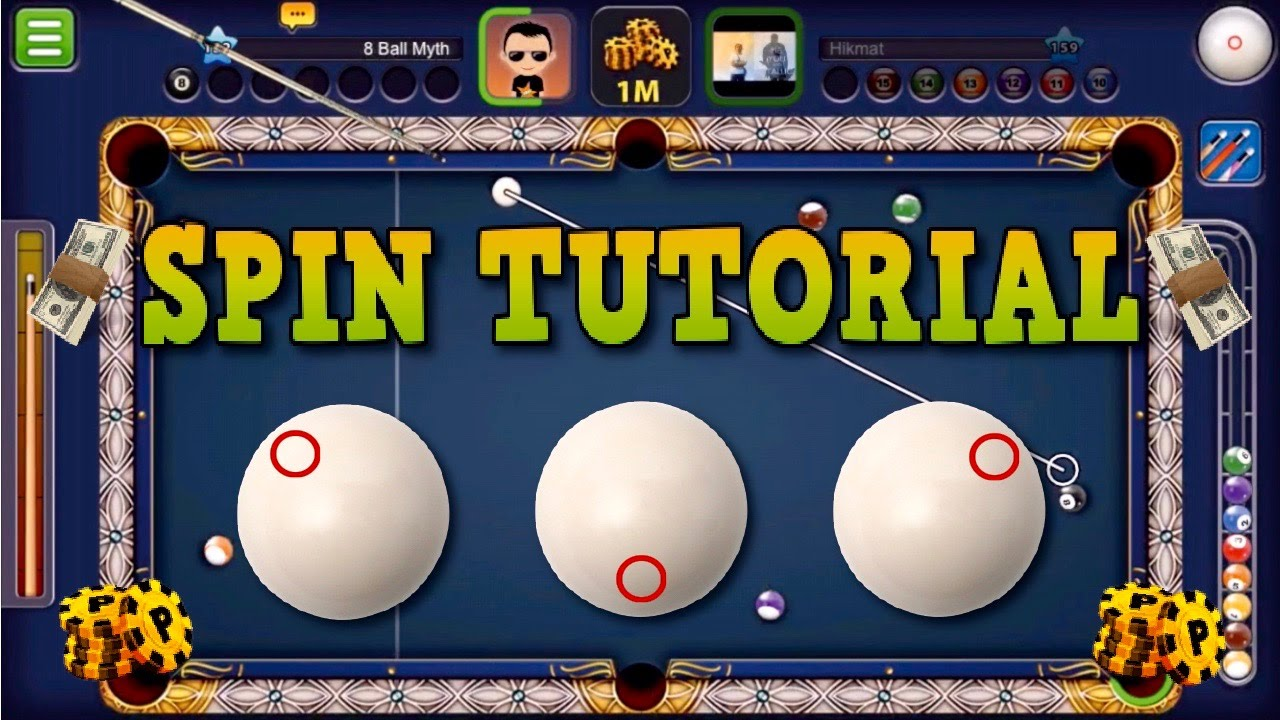 8 Ball Pool Spin Tutorial How To Use Spin In 8 Ball Pool No Hacks Cheats Youtube
