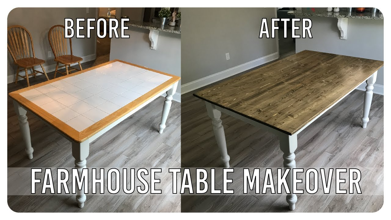 Diy Dining Room Table Makeover Farmhouse Table Edition