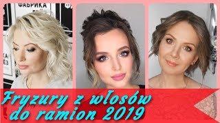 Top 20 ⭐ modne fryzury z włosów do ramion 2019
