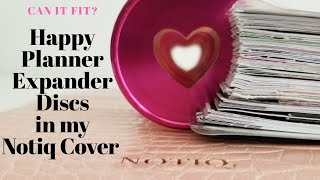 Happy Planner Expander Discs in my Notiq Classic Ringless Cover   Go Getter Girl fits Notiq Cover