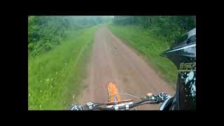 KTM 450 SX and RM 250 trail ride GoPro Hero2 dirt bike 1080p