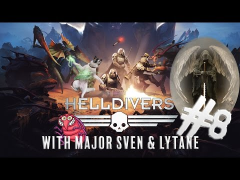 Deathangel appears! | Helldivers with major Sven & Lytane - Part 8 | PS4 gameplay